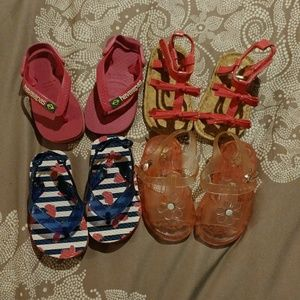 Other - $3 if bundled. Lot of 4 baby sandals.